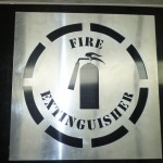 Large Aluminium Stencil - Fire Extinguisher