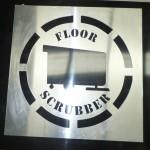 Large Aluminium Stencil - Floor Scrubber