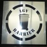 Large Aluminium Stencil - LGV Barrier