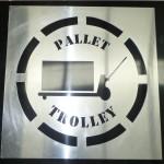Large Aluminium Stencil - Pallet Trolley