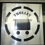 Large Aluminium Stencil - Trolley
